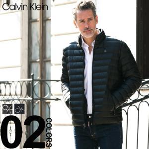 カルバン クライン ダウンジャケット Calvin Klein パッカブル ナイロン ライトダウン ブルゾン ブランド メンズ インナーダウン スタンドカラー CKCM812932F8|zen