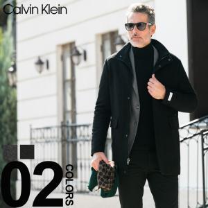 カルバン クライン Calvin Klein コート ウール スタンドカラー 中綿 ブランド メンズ アウター ビジネスコート CKCM885947|zen