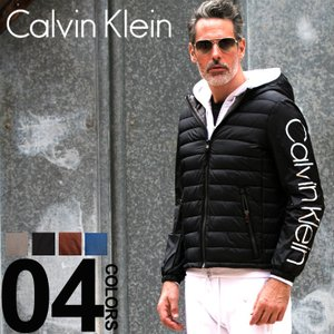 カルバン クライン Calvin Klein CK ナイロンジャケット 中綿 袖ロゴ パーカー フード ブルゾン ブランド メンズ アウター 袖切り替え CKCM813250|zen