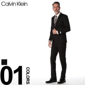 カルバン クライン Calvin Klein スーツ ストレッチ シャドーチェック シングル 2ツ釦 2B ブランド メンズ ビジネス スリムフィット CK5FY1072 zen