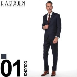 ローレン ラルフ ローレン LAUREN RALPH LAUREN スーツ ULTRA FLEX ウインドウペン シングル 2ツ釦 2B ブランド メンズ ビジネス ウール ノータック RL1RZ2533|zen