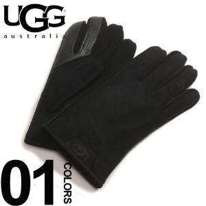 アグ オーストラリア UGG Australia ロゴ シープスキン グローブ ブランド メンズ 手袋 UGG17681|zen