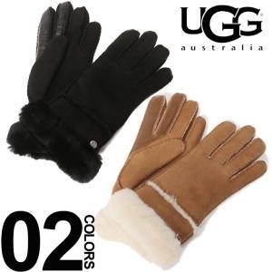 アグ オーストラリア UGG Australia シープスキン リアルファー グローブ ブランド レディース 手袋 レザー スマホ操作 UGGL17371|zen