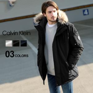 カルバン クライン Calvin Klein 中綿 ジャケット ファー フード フルジップ ブルゾン ブランド メンズ アウター パーカー ミドル丈 CKCM826313|zen
