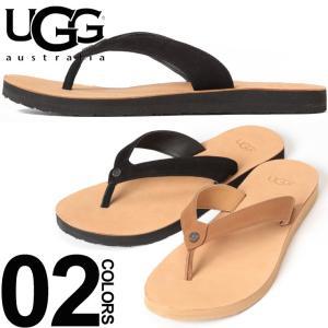 UGGのビーチサンダルTAWNEYです。ストラップにはレザーを使用し、上品さを保ちつつ快適な履き心地...