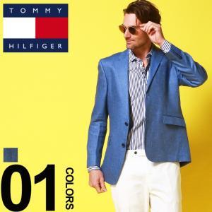 トミーヒルフィガー TOMMY HILFIGER ジャケット 麻100% リネン 麻ジャケット ヘリンボーン テーラード シングル 2ツ釦 2B ブランド メンズ TMTREVORATE0020|zen