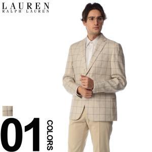 ローレン ラルフ ローレン LAUREN RALPH LAUREN ジャケット 麻ジャケット リネン ウインドウペン シングル 2B ULTRAFLEX ブランド メンズ RL4DX0386|zen