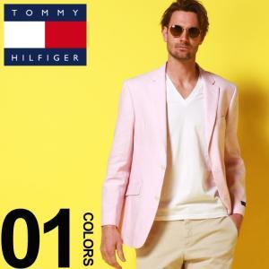 トミーヒルフィガー TOMMY HILFIGER 麻ジャケット ストレッチ リネン シングル 2つ釦 ジャケット 2B ブランド メンズ テーラード TMTREVORAVF0004|zen