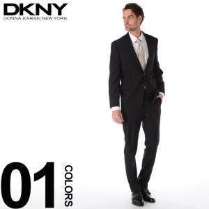DKNY ダナキャラン ニューヨーク スーツ ピン ストライプ シングル 2ツ釦 2B ウール DARKGRAY ブランド メンズ ビジネス ノータック DK12Y1390|zen