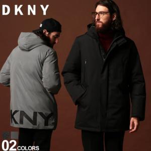 DKNY ダナキャランニューヨーク 中綿ジャケット ロゴ パーカー フード ブルゾン ブランド メンズ アウター ナイロン DKDX9MP195|zen