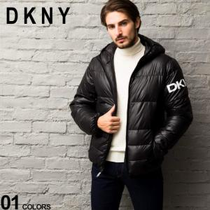 DKNY ダナキャラン 中綿ジャケット パーカー 撥水加工 ロゴ フード ブルゾン ブランド メンズ アウター DKNYDX9MN197|zen
