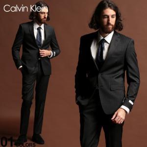 カルバンクライン スーツ CK Calvin Klein ストレッチ ピンストライプ シングル 2ツ釦 2B DARKGRAY SLIM FIT ブランド メンズ ウール ノータック CKMABRY5UZX171 zen