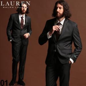 ローレン ラルフローレン スーツ LAUREN RALPH LAUREN ウール混 ストライプ シングル 2ツ釦 2B ULTRA FLEX ブランド メンズ ウール ノータック RLLOFTON1EZ0151|zen