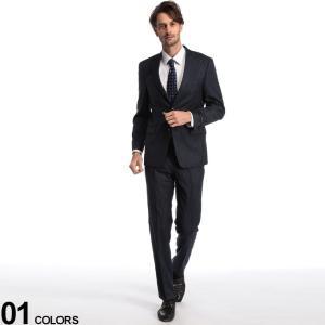 トミーヒルフィガー メンズ スーツ TOMMY HILFIGER ストレッチ ウール ストライプ シングル 2ツ釦 2B NAVY ブランド ビジネス ノータック TMVASSARASG0053 zen