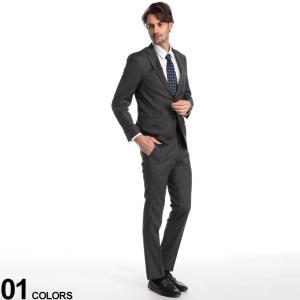 トミーヒルフィガー メンズ スーツ TOMMY HILFIGER ストレッチ ウール ストライプ シングル 2ツ釦 2B GRAY ブランド ビジネス ノータック TMLOWENASB0126 zen