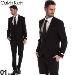 カルバンクライン メンズ スーツ Calvin Klein CK ストレッチ シャドーストライプ シングル 2ツ釦 2B ブランド ノータック スリム CKMABRY5UZ180 zen