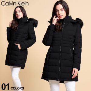 カルバンクライン レディース 中綿 ジャケット Calvin Klain CK フェイクファー フード ロング パディング ブランド アウター コート CKLCW3F765 zen