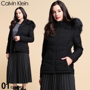 カルバンクライン レディース 中綿 ジャケット Calvin Klain CK フェイクファー フード パディング ブランド アウター パーカー CKLCW03F451 zen
