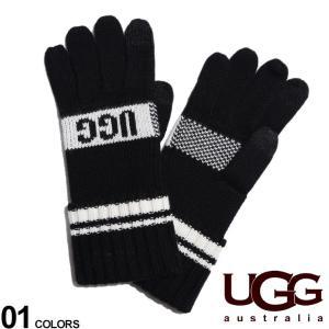 アグ オーストラリア レディース 手袋 UGG Australia ロゴ ニット スマホタッチ グローブ GRAPHIC LOGO W TOUCH ブランド ウール UGGL20169|zen
