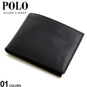 ポロ ラルフローレン POLO RALPH LAUREN レザー ロゴ 二つ折り 財布 ブランド メンズ 2つ折り財布 ウォレット パスケース RL405761979001|zen