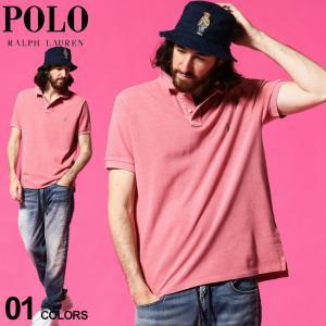 ポロ ラルフローレン メンズ POLO RALPH LAUREN ロゴ 刺繍 ウォッシュ加工 半袖 鹿の子 ポロシャツ ブランド トップス RL710814416016|zen