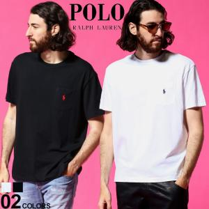 ポロ ラルフローレン メンズ POLO RALPH LAUREN 胸ポケット ロゴ 刺繍 クルーネック 半袖 Tシャツ ブランド トップス ポケT RL710707095|zen