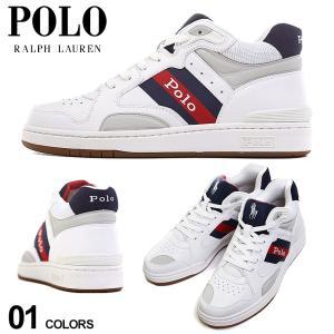 ポロ ラルフローレン POLO RALPH LAUREN レザー ロゴ スニーカー ブランド メンズ シューズ 靴 ミッドカット RL809832625001 zen