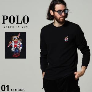 POLO RALPH LAUREN ポロラルフローレン ポロベア クルーネック 長袖 サーマル ワッフル Tシャツ ブランド メンズ トップス ロンT RLPW26HFPX|zen
