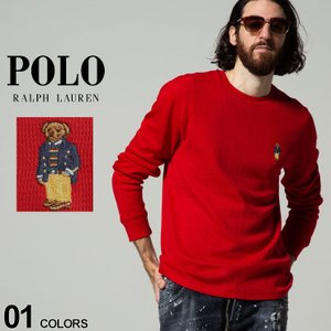 POLO RALPH LAUREN ポロラルフローレン ポロベア クルーネック 長袖 サーマル ワッフル Tシャツ ブランド メンズ トップス ロンT RLPW26HFAK|zen
