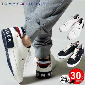 トミーヒルフィガー メンズ スニーカー TOMMY HILFIGER ロゴ フェイクレザー ローカット スニーカー ブランド メンズ 靴 TMREZZ|zen