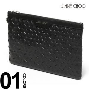 ジミーチュウ JIMMY CHOO レザー スターエンボス加工 クラッチバッグ JCDEREKEMG8 メンズ ブランド|zen