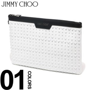 ジミーチュウ JIMMY CHOO クラッチバッグ スター スタッズ レザー DEREK デレク ブランド メンズ レディース 鞄 バッグ 革 星 JCDEREKUIG|zen