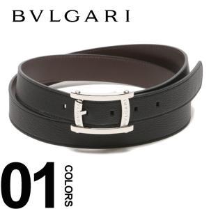BVLGARI ブルガリ ベルト リバーシブル レザー ロゴバックル ASSIOMA メンズ ブランド 紳士 ビジネス レザーベルト BLG37896S8 zen
