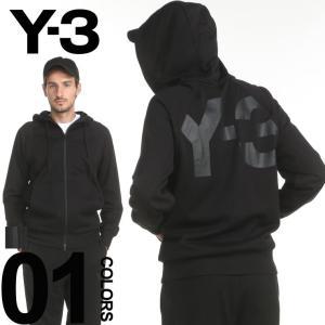 Y-3 ワイスリー パーカー フルジップ スウェット バックプリント ロゴ ブランド メンズ トップス ジップパーカー フード Y3CY6900 zen