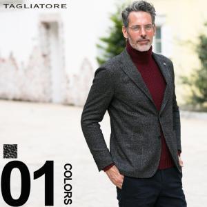 タリアトーレ TAGLIATORE ジャケット コットン ウール ジャージ ダイアゴナル シングル 2ツ釦 2B ブランド メンズ TGMJ22K57UIJ083|zen