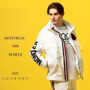 モンクレール MONCLER ナイロンジャケット 袖ロゴ ナイロンパーカー トリコロール MONTREAL モンレアル ブランド メンズ アウター フード ロゴ MCMONTREAL9|zen