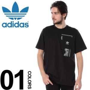 アディダス オリジナルス adidas originals Tシャツ 半袖 胸ポケット バンダナ クルーネック ブランド メンズ トップス コットン ペイズリー ADDX3658|zen