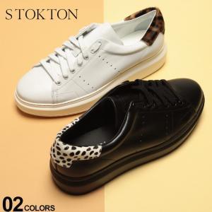 ストックトン STOKTON スニーカー レザー ヒール ハラコ ローカット ブランド メンズ 靴 ヒョウ ダルメシアン レオパード STBUBKAU|zen