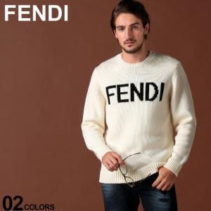 フェンディ FENDI ニット セーター ウール ロゴ クルーネック ブランド メンズ トップス FDFZZ387A3M3|zen