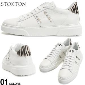 ストックトン メンズ スニーカー STOKTON レザー スター スタッズ ローカット ブランド シューズ 靴 白スニーカー ゼブラ ハラコ ST681UGLAMOUR|zen