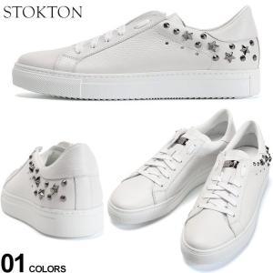 ストックトン メンズ スニーカー STOKTON レザー スター スタッズ ローカット ブランド シューズ 靴 白スニーカー イタリア製 ST356U0S|zen