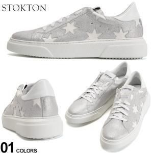 ストックトン メンズ スニーカー STOKTON レザー ラメ グリッター スター ローカット ブランド シューズ 靴 シルバー ST352UCHINTI|zen