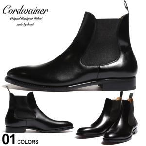 コードウェイナー メンズ ブーツ Cordwainer レザー サイドゴア ショートブーツ ブランド シューズ 靴 革靴 黒 グッドイヤーウェルテッド CW17051BOXCALF|zen