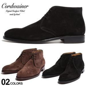 コードウェイナー メンズ ブーツ Cordwainer スエード レースアップ チャッカブーツ ブランド 靴 スウェード 革靴 黒 茶色 グッドイヤー CWIMANOL219|zen