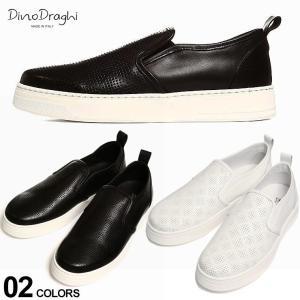 ディーノ ドラーギ メンズ スニーカー Dino Draghi レザー スリッポン ブランド シューズ 靴 本革 イタリア製 DD1501 zen