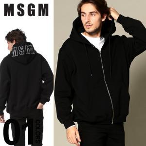 MSGM エムエスジーエム パーカー スウェット フード ロゴ フルジップ ブランド メンズ トップス MS2540MM74|zen