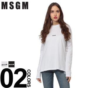 MSGM エムエスジーエム ロンT ロゴプリント カットソー クルーネック 長袖 Tシャツ ブランド レディース トップス MSL2541MDM101|zen