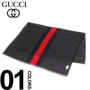 グッチ GUCCI ストール マフラー ウール100% GG柄 ストライプ メンズ GC4979154G200 zen