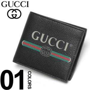 グッチ GUCCI 財布 二つ折り レザー ロゴプリント ブランド メンズ ハーフ ウォレット サイフ GC4963160GCAT|zen
