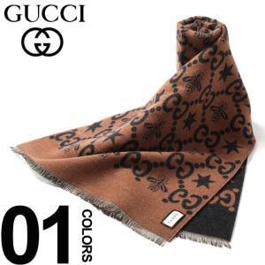 グッチ GUCCI マフラー シルク混 ビー スター GG ブランド レディース メンズ ウール シルク GC5487514G636|zen